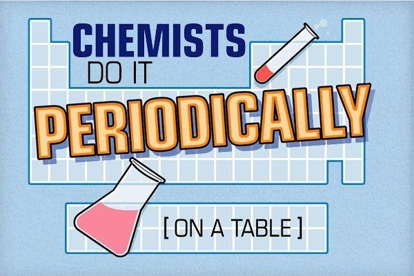 Chemists do it periodically on a table.