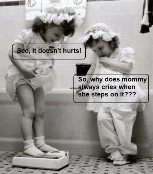 See, it doesn't hurts! So why does mommy always cries when she steps on it???