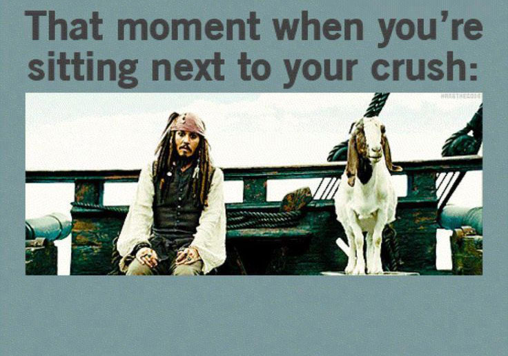 That moment when you're sitting next to your crush