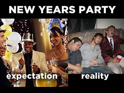 New Years Party expectation reality