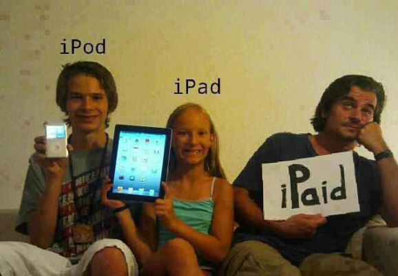 iPod iPad iPaid