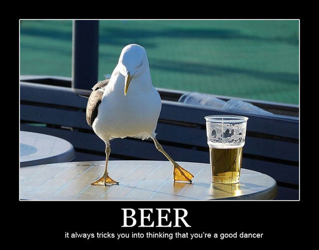 Beer – It always tricks you into thinking that you're a good  dancer.