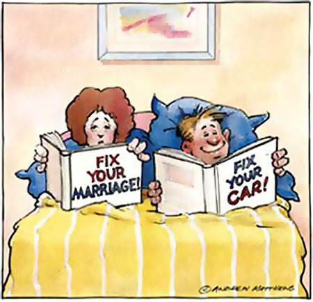 Fix your marriage! Fix your car!