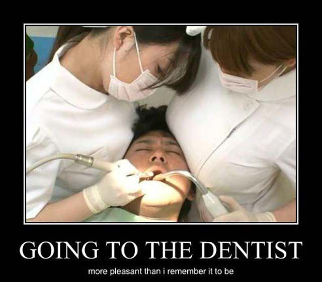 Going to the dentist more pleasant than I remember it to be.