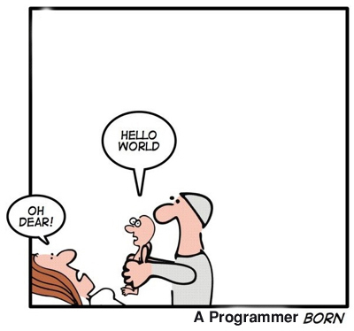 Hello world - A programmer born.