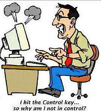 I hit the control key so why am I not in control?