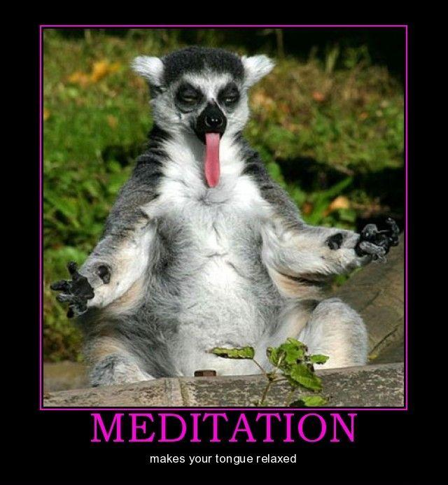 Meditation makes your tongue relaxed.