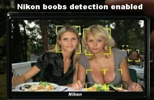 Nikon boobs detection enabled.