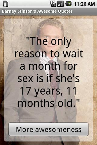 The only reason to wait a month for sex is if shes 17 years 11 months-old.