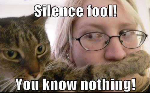 Silence fool! You know nothing!