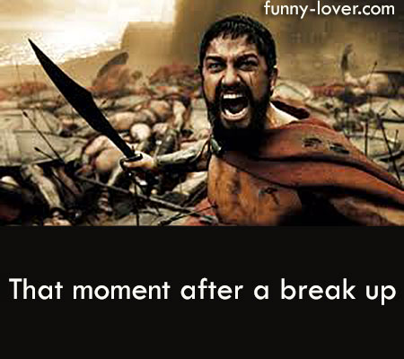 That moment after a break up