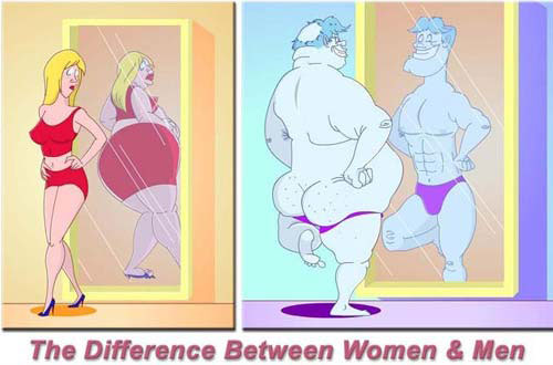 The difference between women and men.