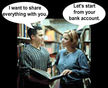 I want to share everything with you. Let's start from your bank account.